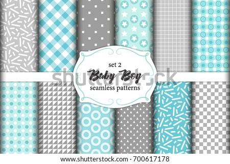 7643b3301847 Cute Set Scandinavian Baby Boy Seamless Stock Vector (Royalty Free ...