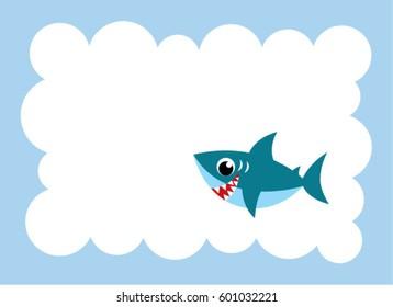 cute shark message card