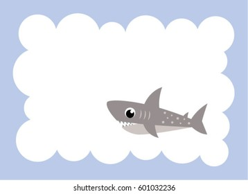 cute shark message card