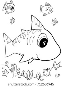 Cute Shark Vector Illustration Art