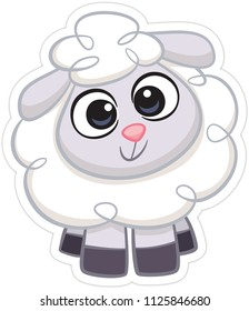 Cute sheep smiling