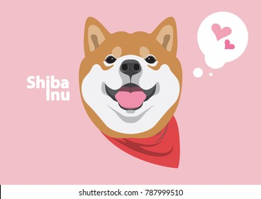 Cute Shiba Dog and His Smile