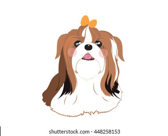 Cute ShihTzu cartoon