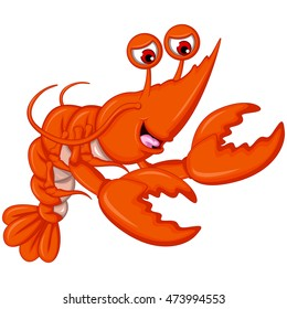 cute shrimp cartoon for you design