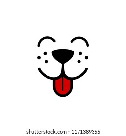 Cute, simple dog face vector