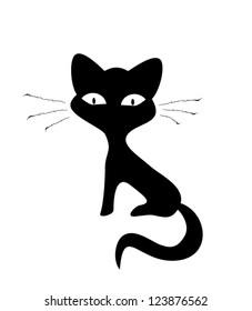 Cute simple vector kitten