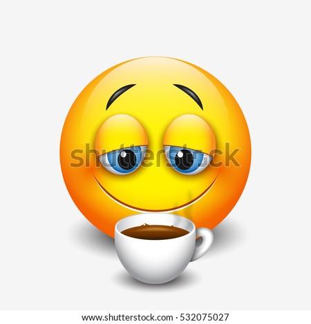 Che faccia ti faccio? - Pagina 31 Cute-sleepy-emoticon-drinking-coffee-450w-532075027