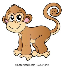 monkey clipart images stock photos vectors shutterstock rh shutterstock com clipart monkey free clipart monkey hanging from tree branch