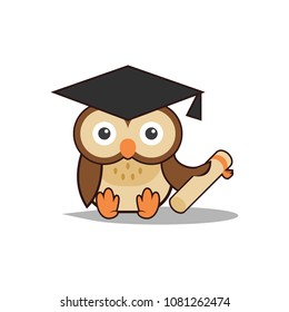 Scholar images stock photos vectors shutterstock cute smart scholar owl holding a scroll stopboris Choice Image
