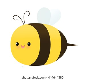 Cute smiling bee