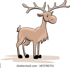 cute smiling elk - isolated illustration