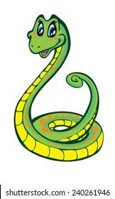 Cute snake holding something