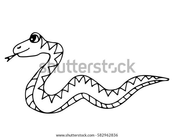 Vector De Stock Libre De Regalías Sobre Una Serpiente