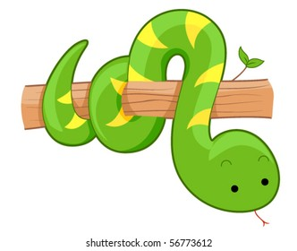 Cute Snake - Vector
