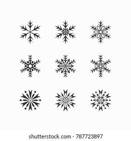 Cute Snowflake winter icon - Flat illustration of snowflake vector icon isolated. Vector illustration.