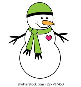Cute Snowman Cartoon