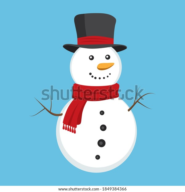cute-snowman-red-scarf-black-600w-184938