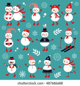 A cute snowmen collection