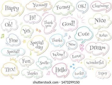 A lot of cute speech bubbles