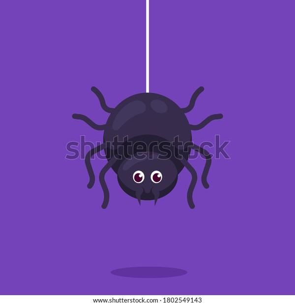 Cute spider halloween mascot design illustration