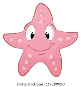Cute starfish vector illustration