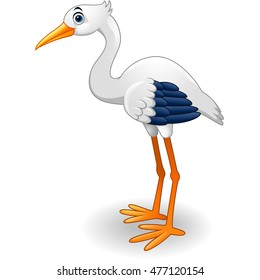 Cute stork cartoon
