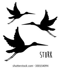 cute stork design, vector illustration eps10 graphic