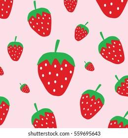 Cute strawberry pattern background