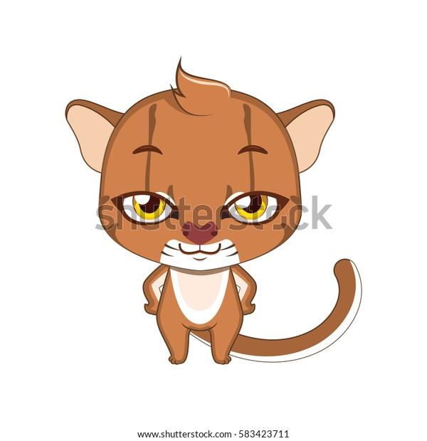 Cute stylized cartoon bay cat illustration ( for fun educational purposes, illustrations etc. )