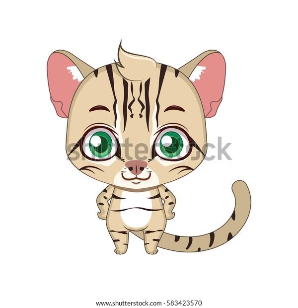 Cute stylized cartoon fishing cat illustration  ( for fun educational purposes, illustrations etc. )