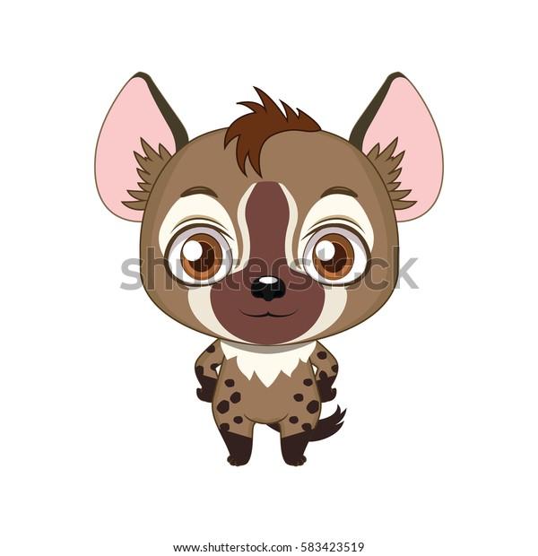 Cute stylized cartoon hyena illustration ( for fun educational purposes, illustrations etc. )