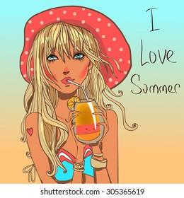 cute summer girl