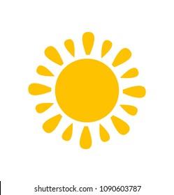 Cute sun icon. Vector illustration