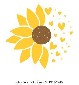 cute sunflower flower vector illustration