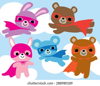 Cute Superhero Animal Characters