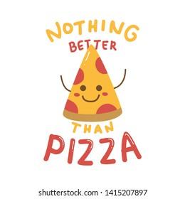 Cute t shirt design with cute pizza