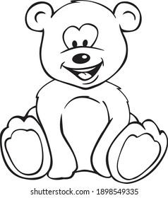 Cute Teddy Bear Cartoon Isolated Vector Illustration