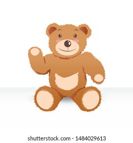Cute Teddy Bear Vector Illustration