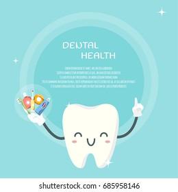 Cute teeth design template. Vector illustration.