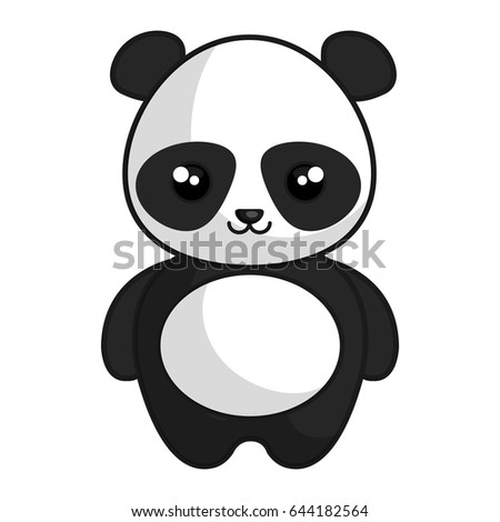 Cute Tender Bear Panda Kawaii Style Stock Vector Royalty Free