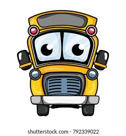cute and tender school bus kawaii
