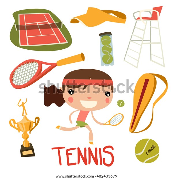 cute-tennis-kid-set-girl-600w-482433679.