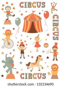 Cute tent circus illustration