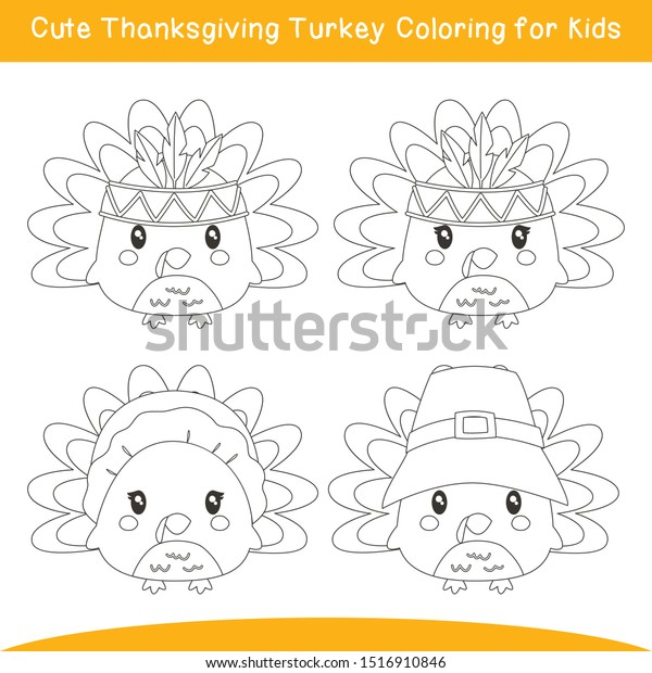 Thanksgiving Turkey Color Page - Coloring Home | 620x600