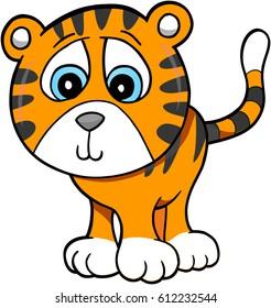 Cute Tiger Vector Illustration Art