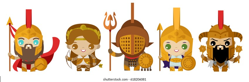cute tiny greek warriors