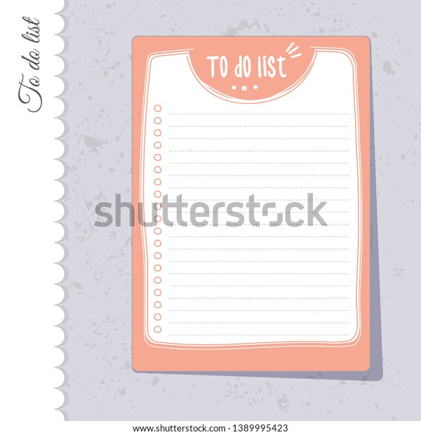 picture about Printable Lists identify Lovely Todo Checklist Printable Keep an eye on Lists Inventory Vector (Royalty