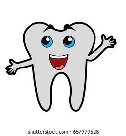 cute tooth cartoon