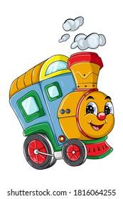 A cute train cartoon character vector illustration