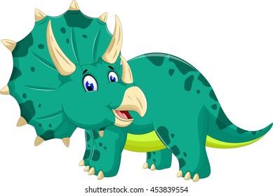 cute Triceratops cartoon posing